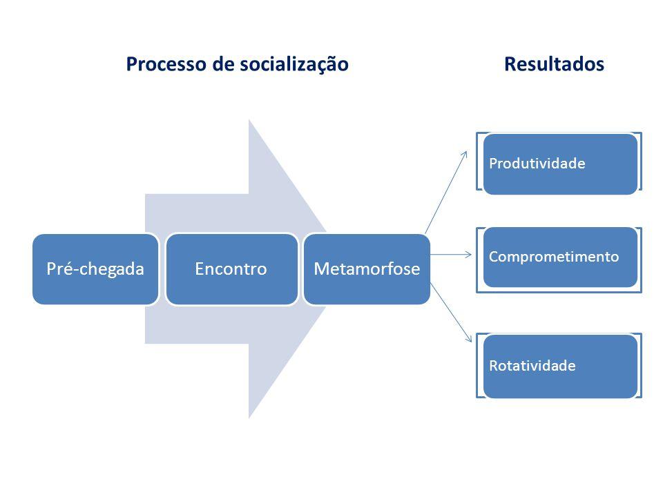 Processo de socialização Resultados