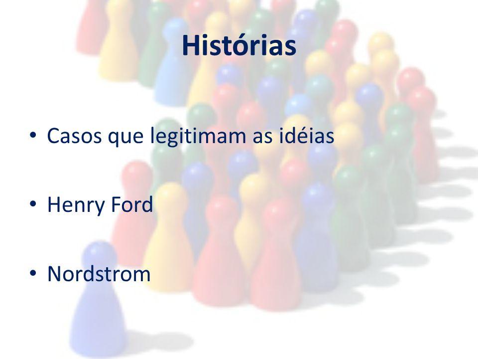 Histórias Casos que legitimam as idéias Henry Ford Nordstrom