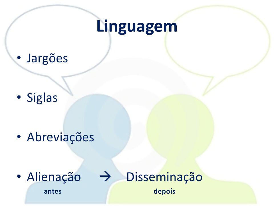Linguagem Jargões Siglas Abreviações Alienação  Disseminação