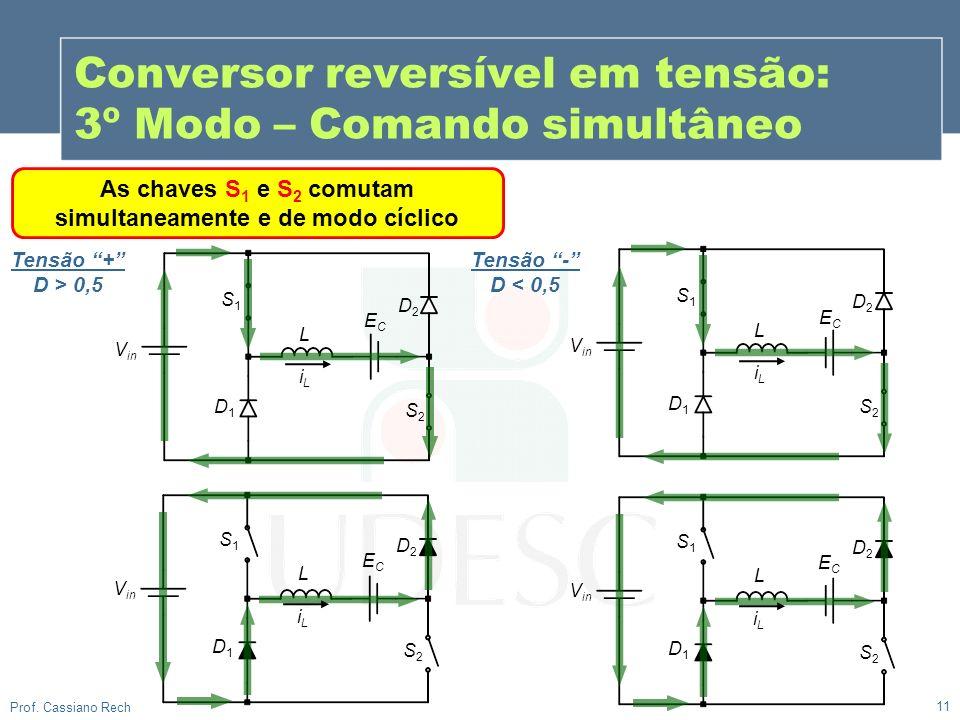 Conversor reversível em tensão: 3º Modo – Comando simultâneo
