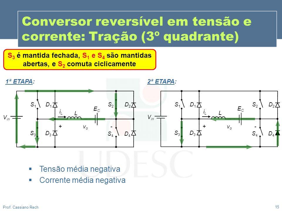 Conversor reversível em tensão e corrente: Tração (3º quadrante)
