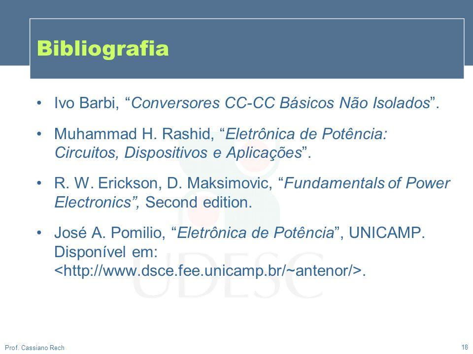 Bibliografia Ivo Barbi, Conversores CC-CC Básicos Não Isolados .