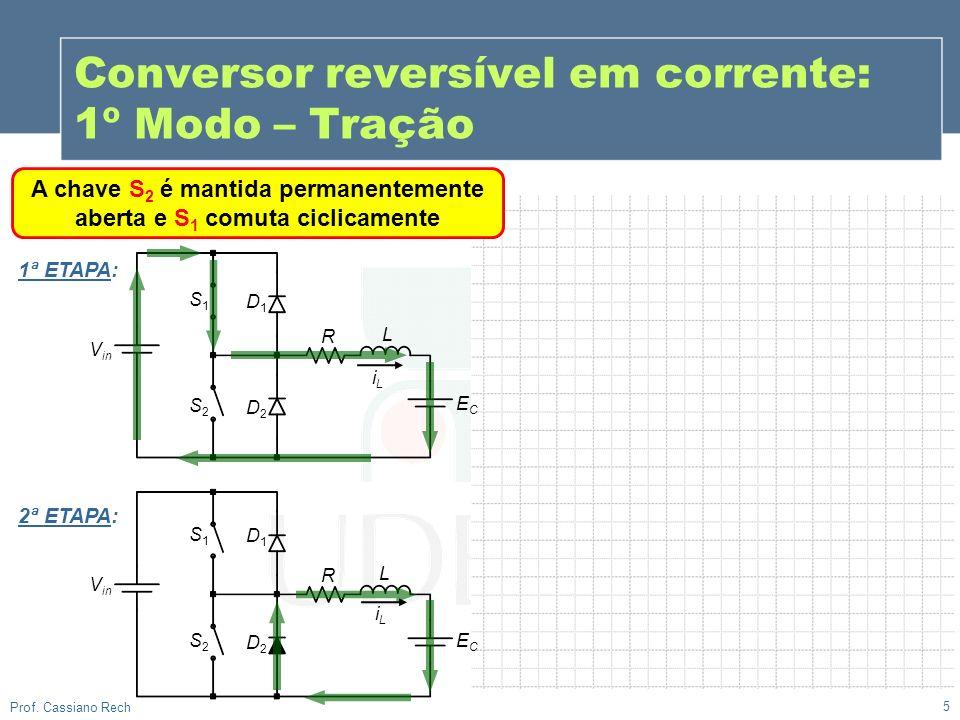 Conversor reversível em corrente: 1º Modo – Tração