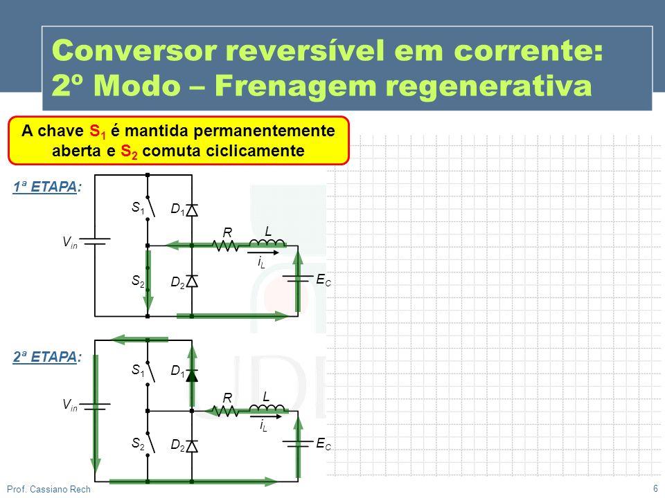 Conversor reversível em corrente: 2º Modo – Frenagem regenerativa