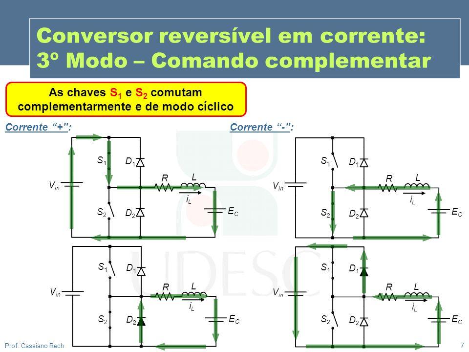 Conversor reversível em corrente: 3º Modo – Comando complementar