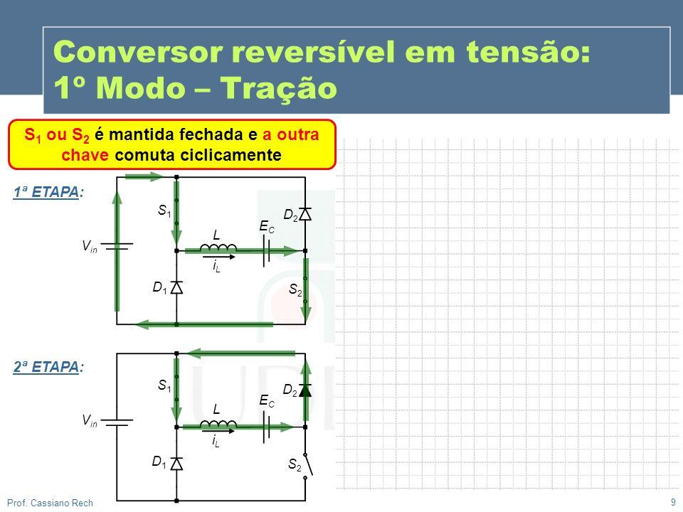 Conversor reversível em tensão: 1º Modo – Tração