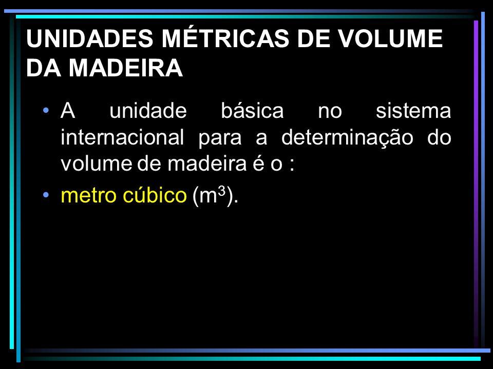 UNIDADES MÉTRICAS DE VOLUME DA MADEIRA