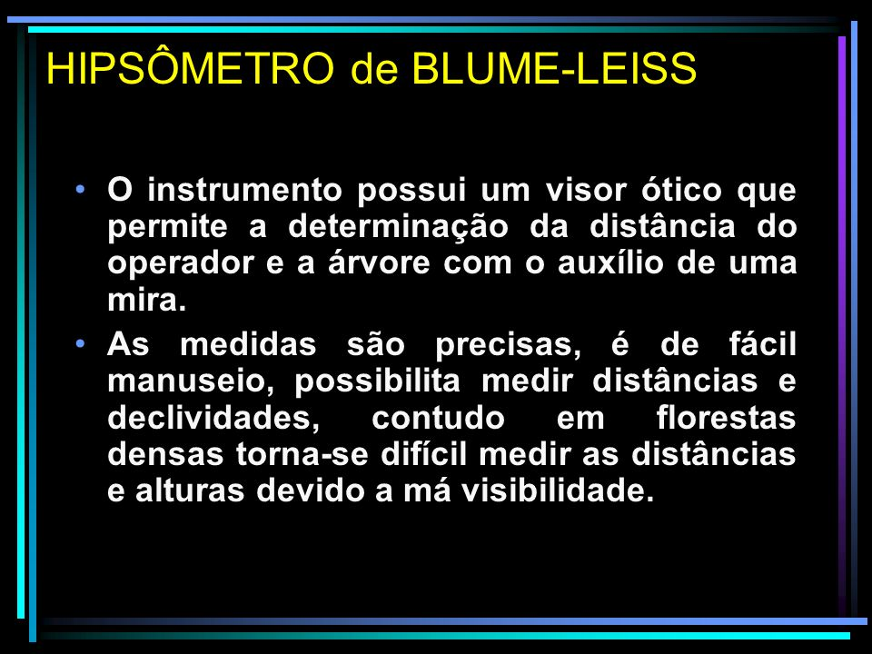 HIPSÔMETRO de BLUME-LEISS