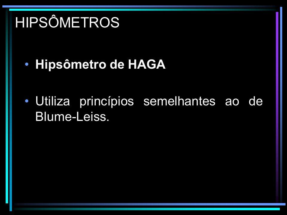 HIPSÔMETROS Hipsômetro de HAGA