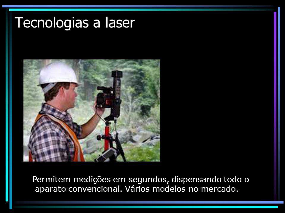 Tecnologias a laser Permitem medições em segundos, dispensando todo o