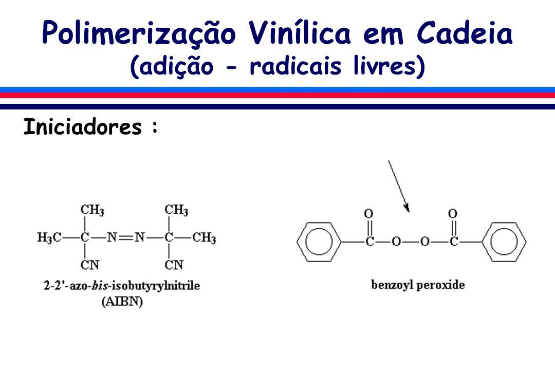 Polimerização Vinílica em Cadeia (adição - radicais livres)