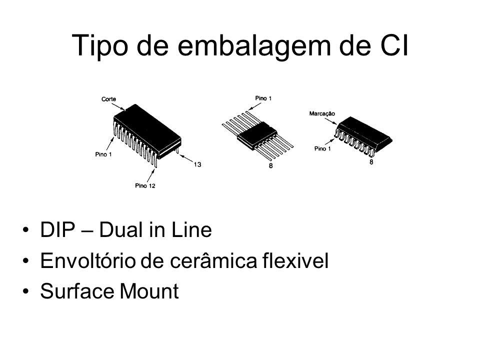 Tipo de embalagem de CI DIP – Dual in Line