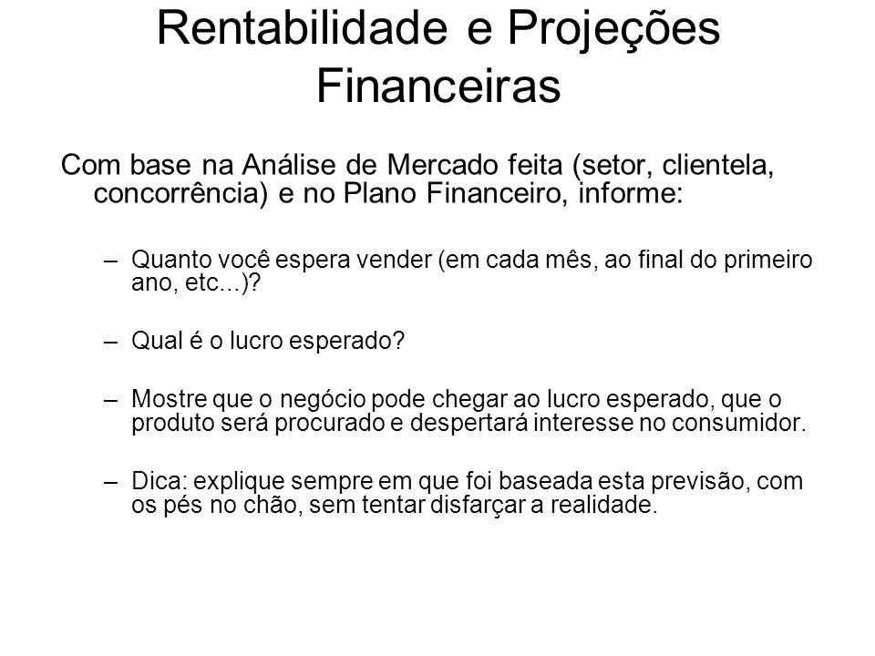 Rentabilidade e Projeções Financeiras
