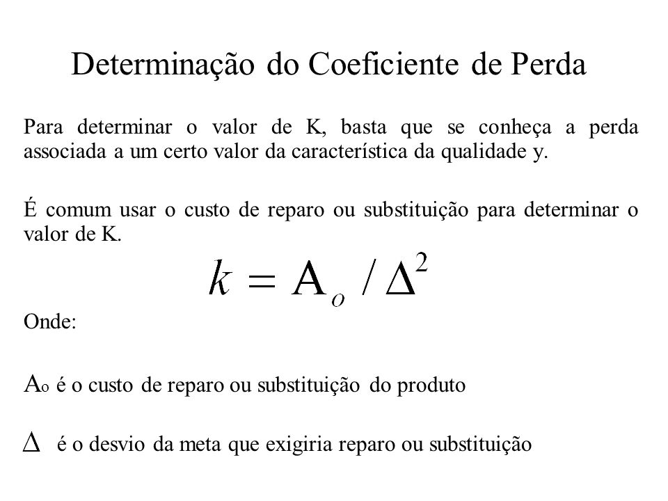 Determinação do Coeficiente de Perda