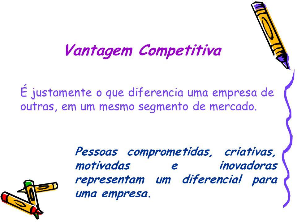 Vantagem Competitiva É justamente o que diferencia uma empresa de outras, em um mesmo segmento de mercado.