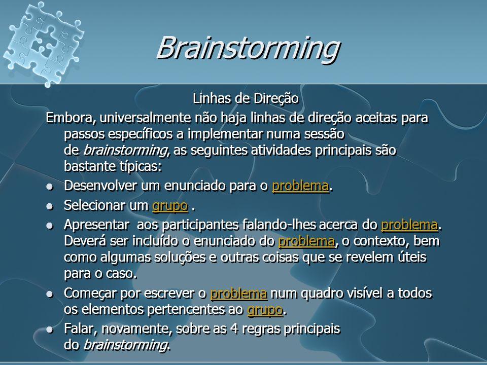 Brainstorming Linhas de Direção