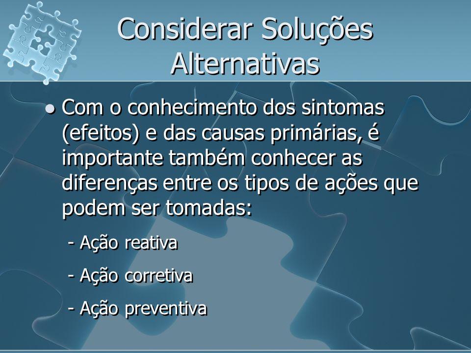 Considerar Soluções Alternativas