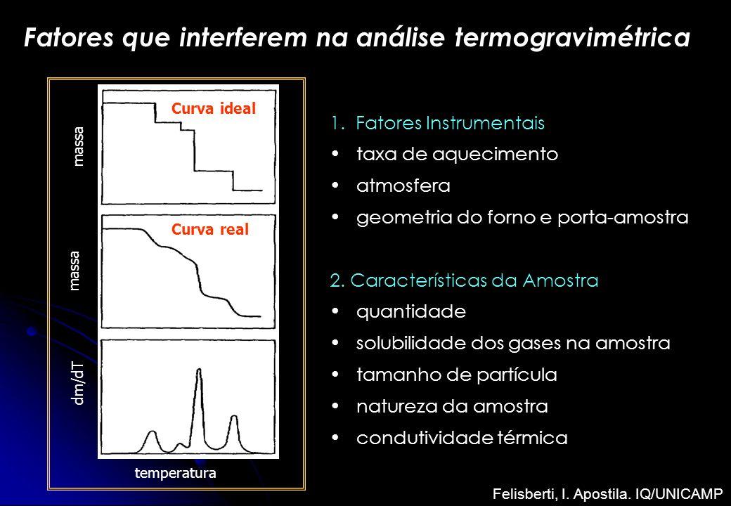 Fatores que interferem na análise termogravimétrica
