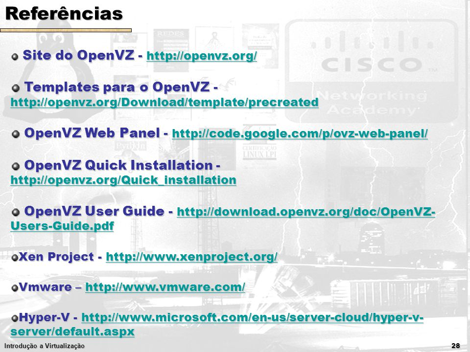 Introdu o a virtualiza o prof eduardo maro as monks for Download openvz templates