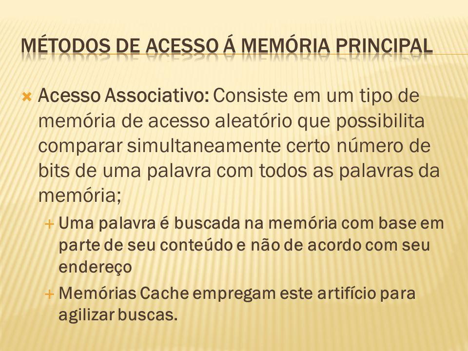 Métodos de acesso á memória principal