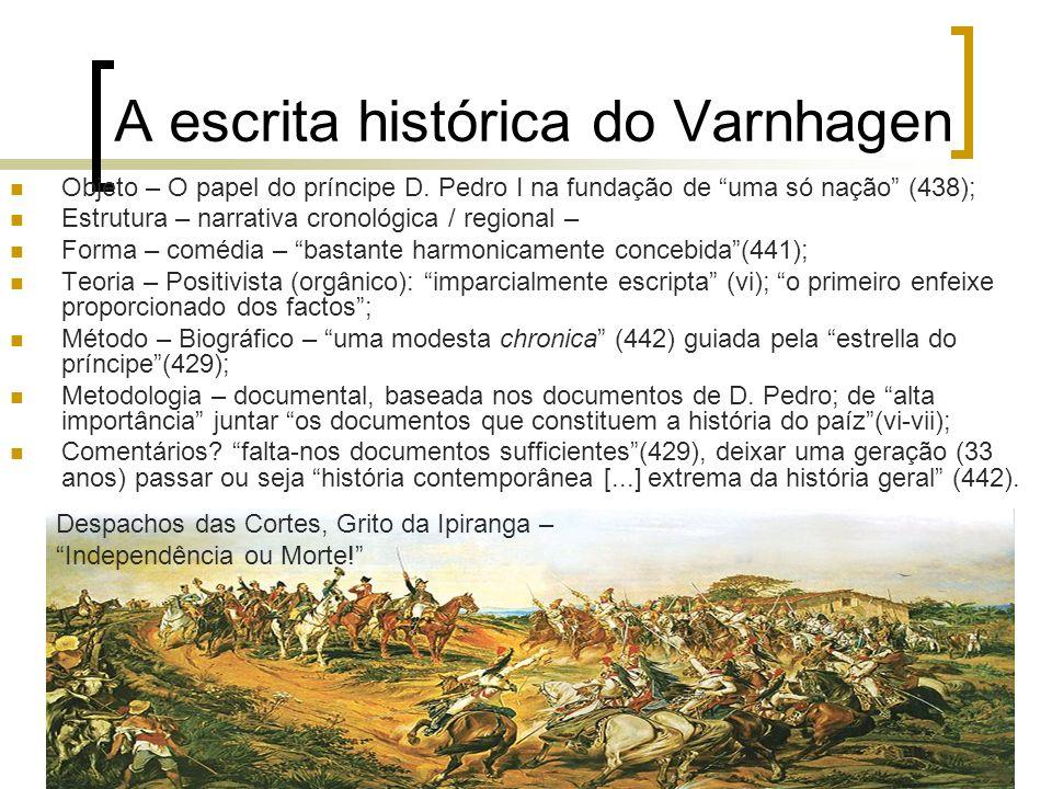 A escrita histórica do Varnhagen