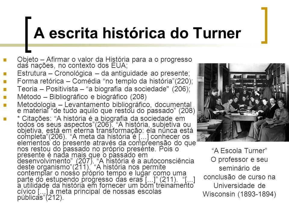 A escrita histórica do Turner