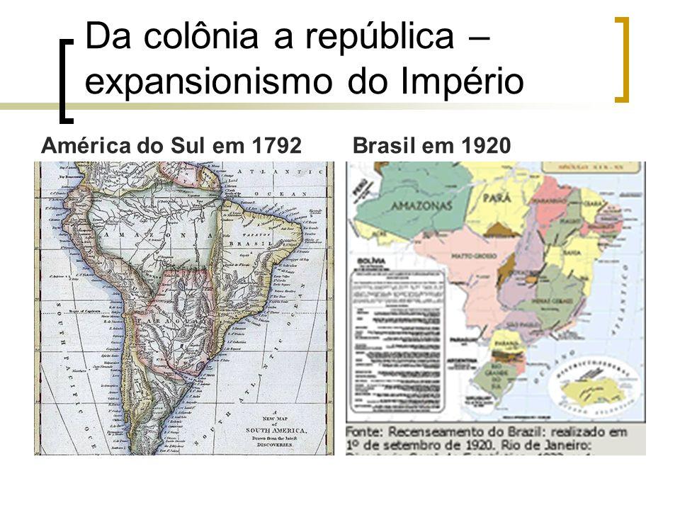 Da colônia a república – expansionismo do Império