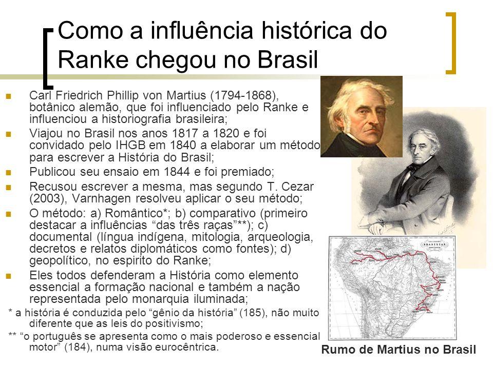 Como a influência histórica do Ranke chegou no Brasil