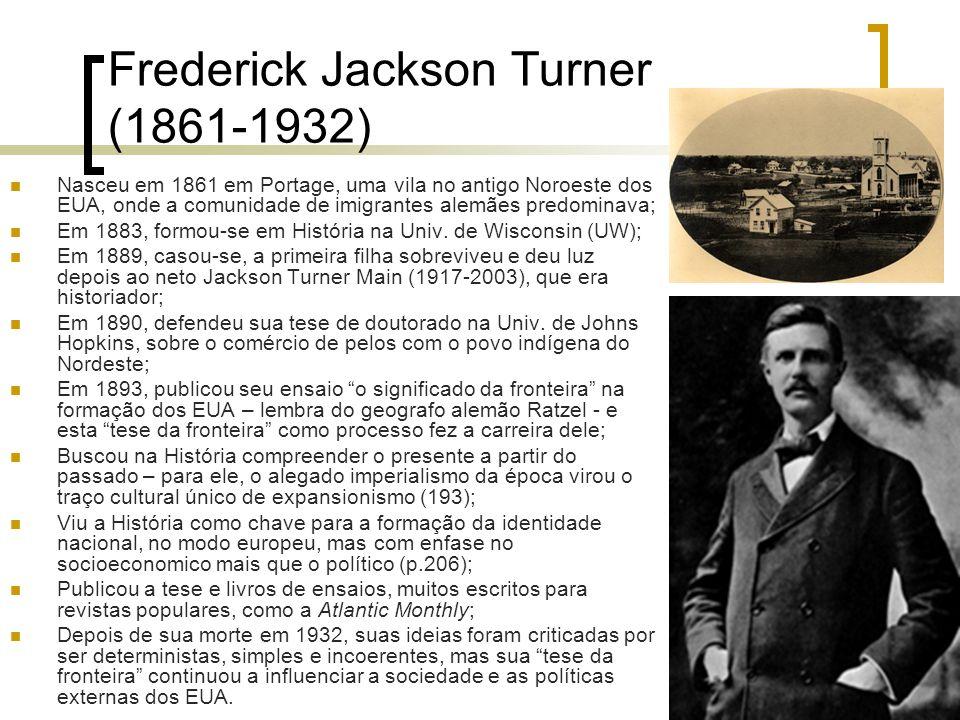 Frederick Jackson Turner (1861-1932)