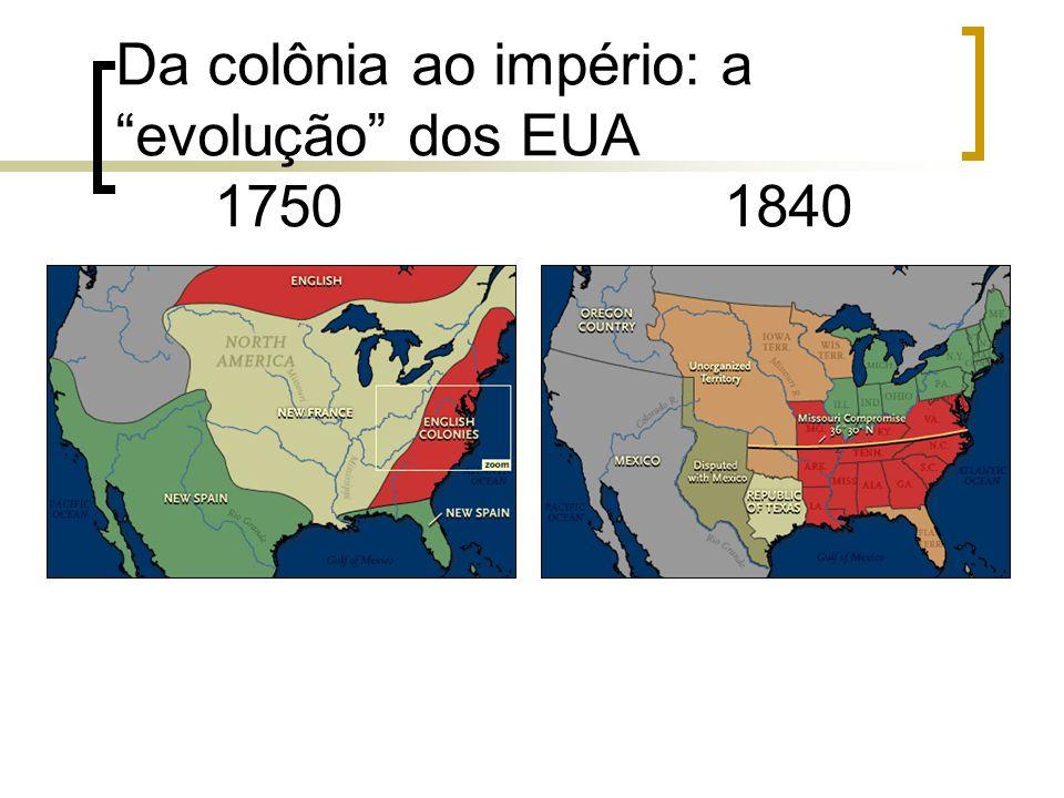 Da colônia ao império: a evolução dos EUA 1750 1840