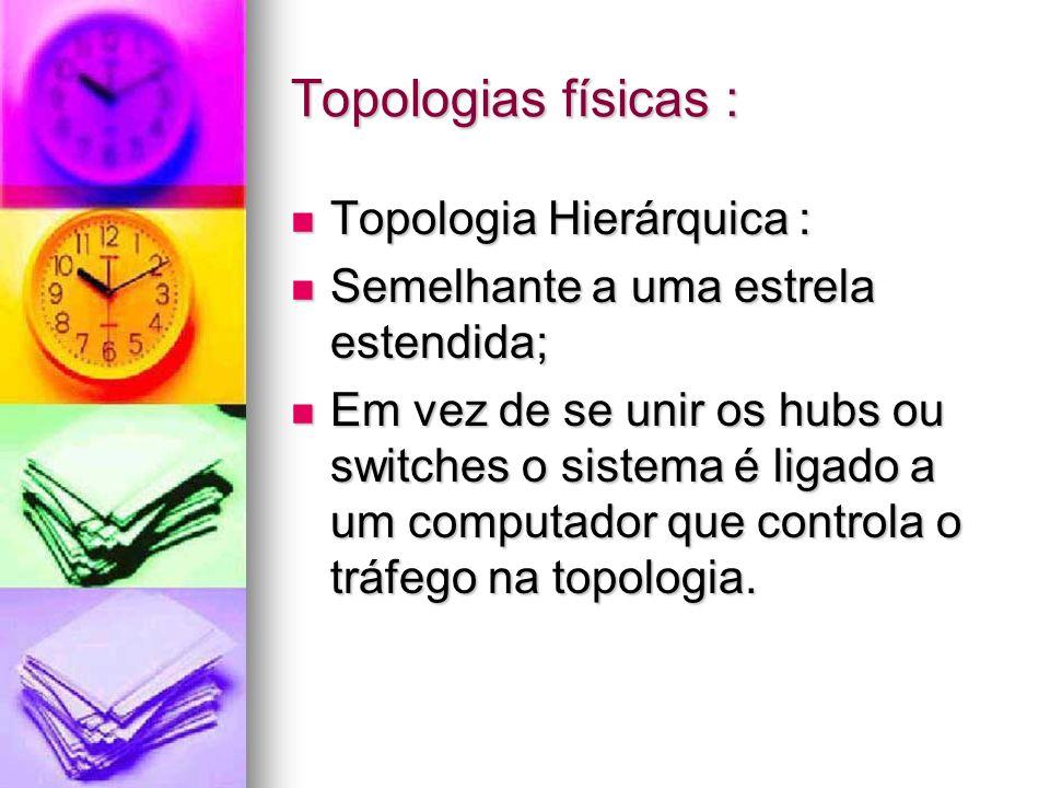 Topologias físicas : Topologia Hierárquica :