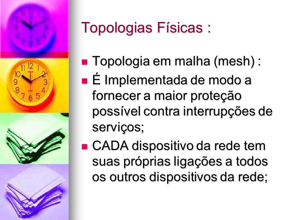 Topologias Físicas : Topologia em malha (mesh) :