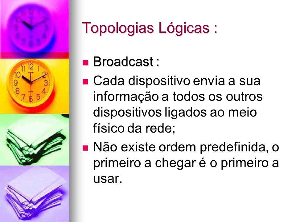 Topologias Lógicas : Broadcast :