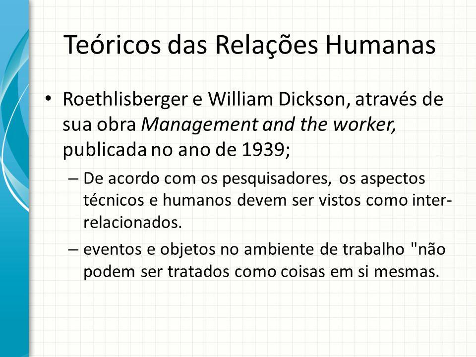 Teóricos das Relações Humanas