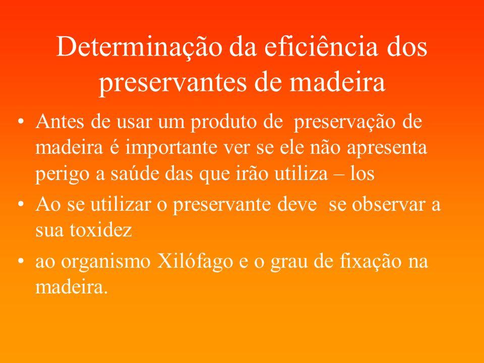 Determinação da eficiência dos preservantes de madeira
