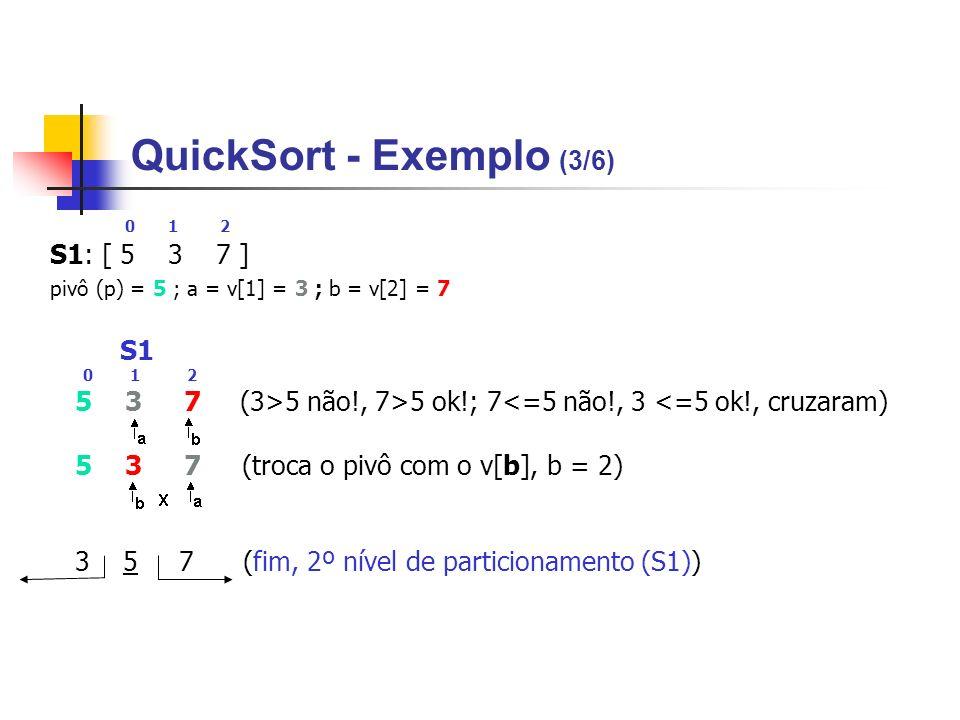 QuickSort - Exemplo (3/6)
