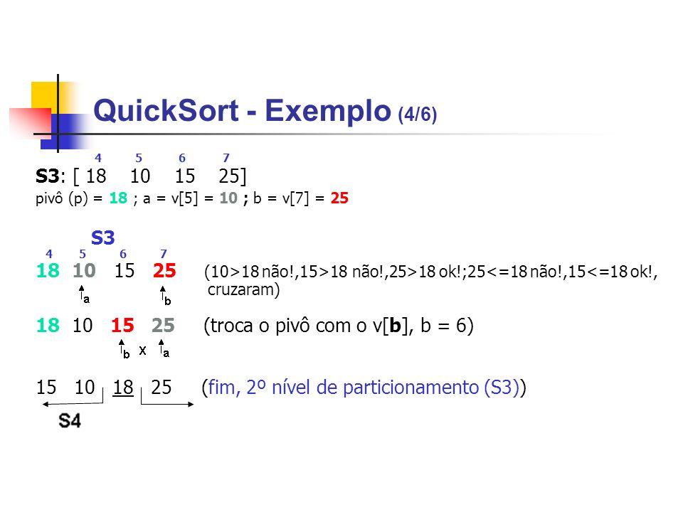 QuickSort - Exemplo (4/6)