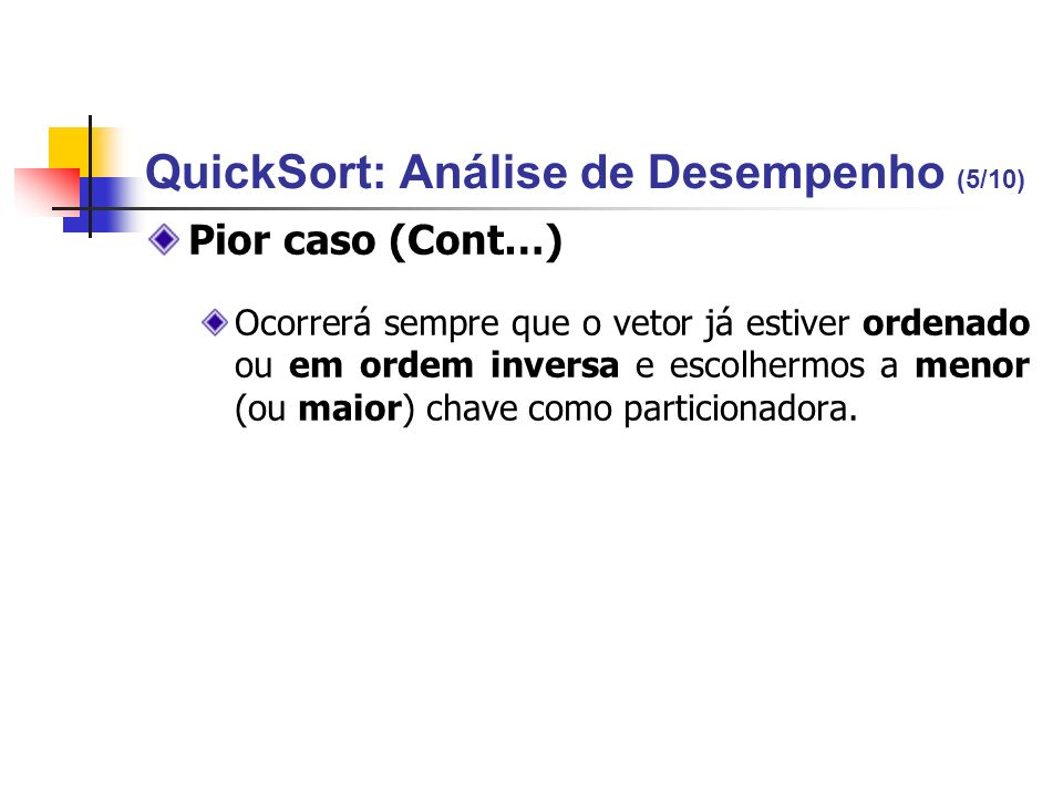 QuickSort: Análise de Desempenho (5/10)