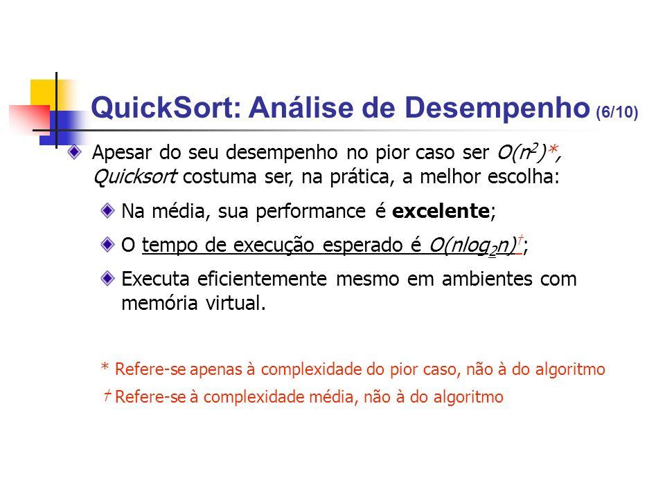 QuickSort: Análise de Desempenho (6/10)