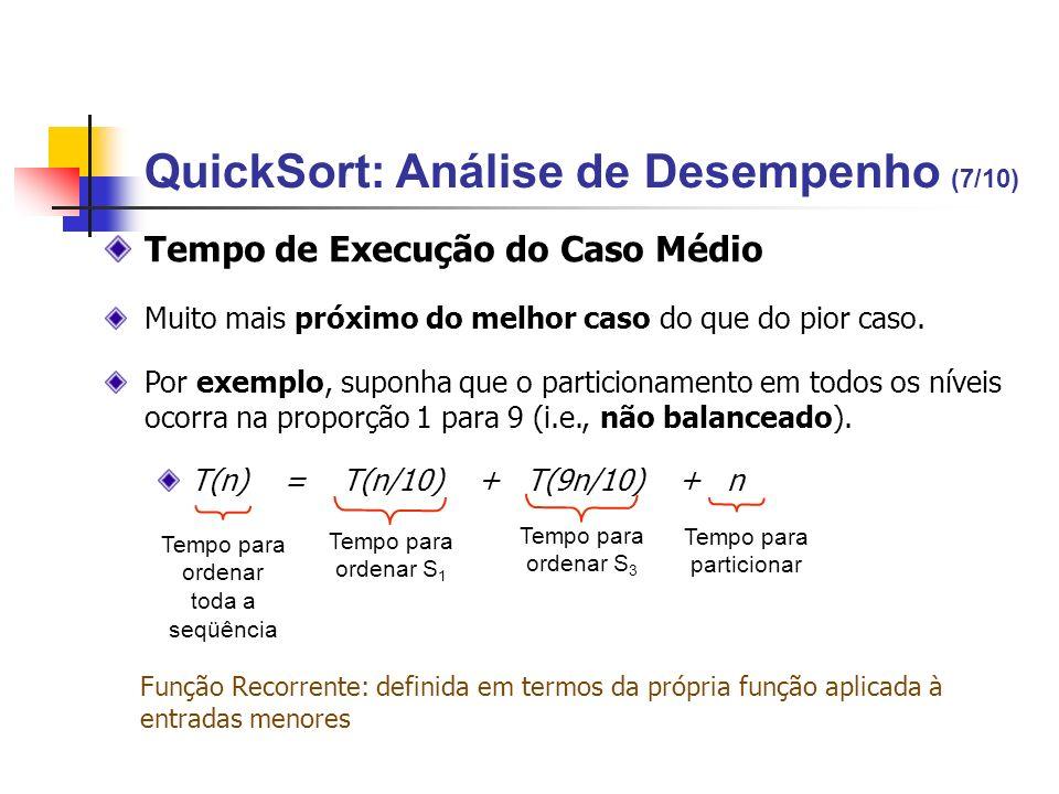QuickSort: Análise de Desempenho (7/10)