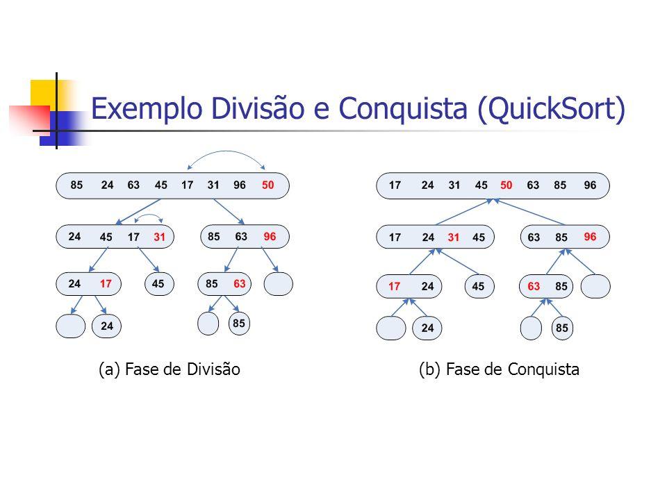 Exemplo Divisão e Conquista (QuickSort)