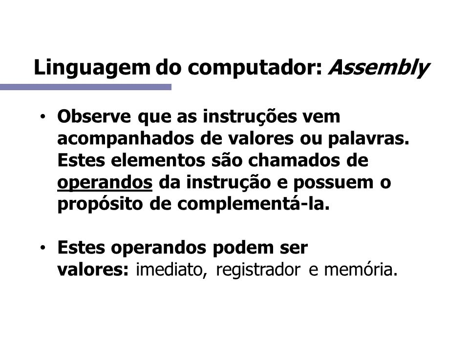 Linguagem do computador: Assembly