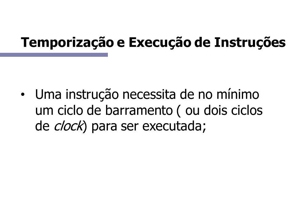 Temporização e Execução de Instruções