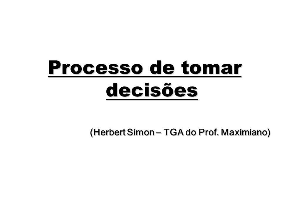 Processo de tomar decisões