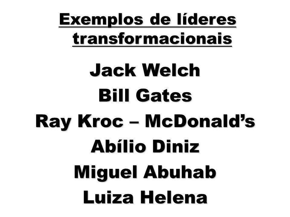 Exemplos de líderes transformacionais
