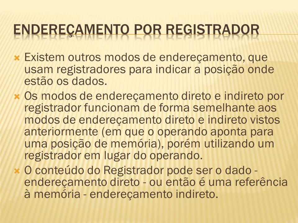 ENDEREÇAMENTO POR REGISTRADOR