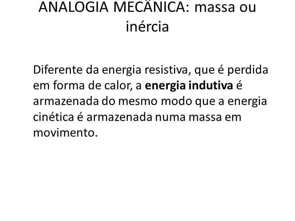 ANALOGIA MECÂNICA: massa ou inércia