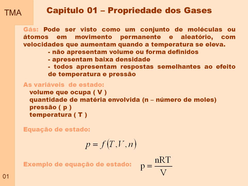 Capitulo 01 – Propriedade dos Gases