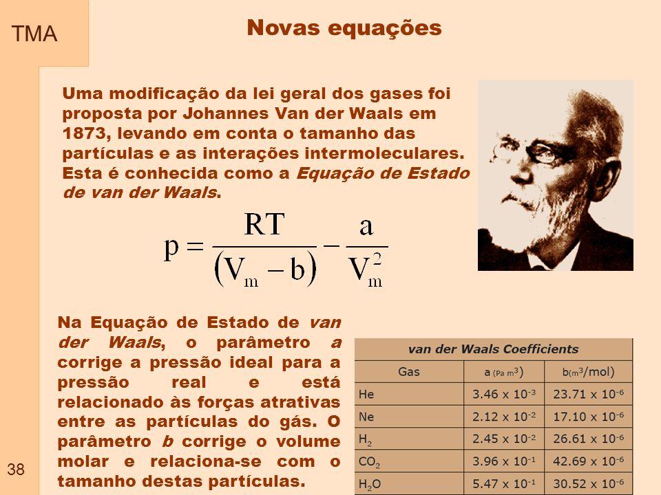 TMA 38. Novas equações.