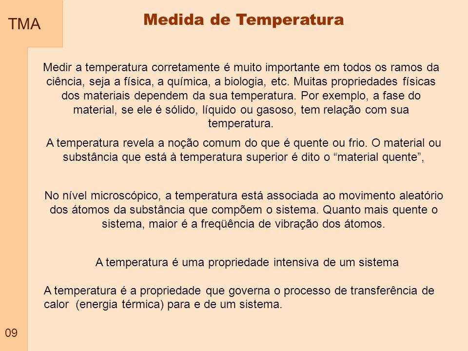 A temperatura é uma propriedade intensiva de um sistema